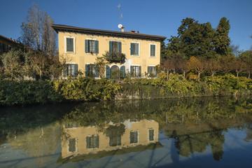 Milan (Italy), canal of Martesana
