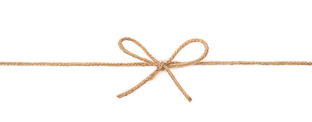 Bow knot on a string isolated