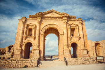 Roman ruins, ancient Roman city of Jerash, Jordan
