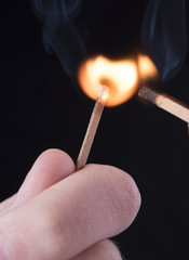 lighting of match with other match