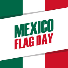 Mexico Flag Day holiday banner. Vector Illustration.