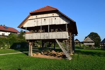 Hay Stacks in Dezela Kozolcev, Slovenia