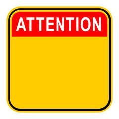 Sticker Attention Safety Sign