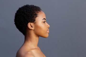 profile portrait of african american young woman