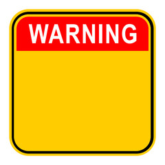 Sticker Warning Safety Sign