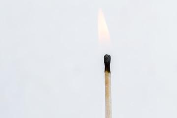 Matches isolated on white background. Closeup shot.