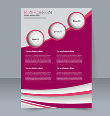 Abstract flyer design background. Brochure template. To be used for magazine cover business mockup education presentation report.