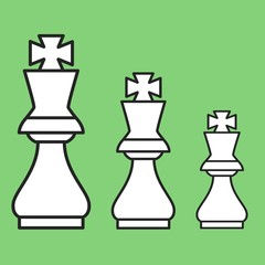 Chess figure king on a green background