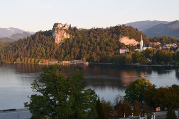 Bled Castle at Sunrise, Slovenia