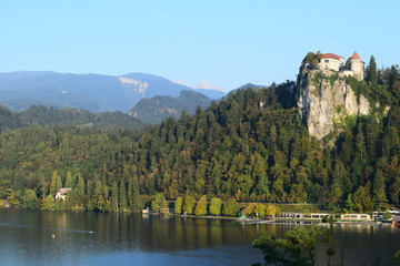 Bled Castle and Triglav Mountains, Slovenia