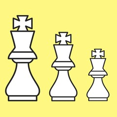 Chess figure king on a yellow background
