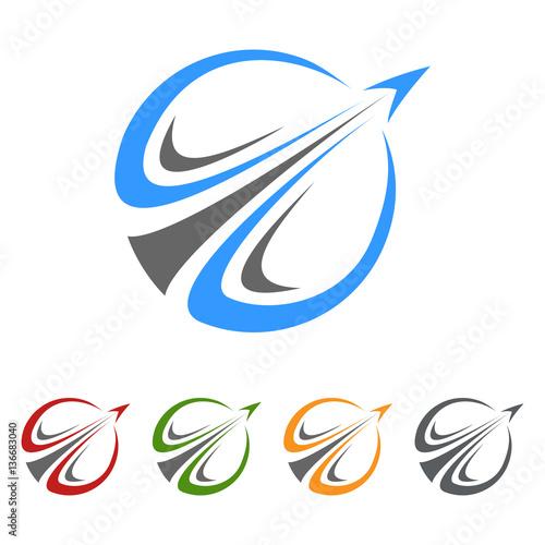 Global Travel Tour Vector Logo Design