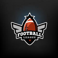 American football, sports logo.