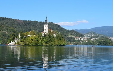 Church on Lake Bled Island, Slovenia