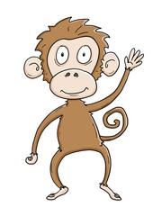 Ausmalbild Affe koloriert