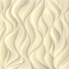 Gold background with texture of the volumetric wavy lines..