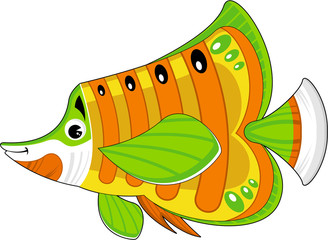 Cool Cartoon Tropical Fish Illustration