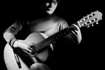 Acoustic guitar player guitarist Classical musicians