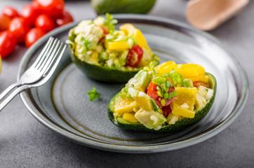 Stuffed avocado with vegetable