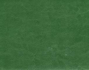 Dark green leather texture.