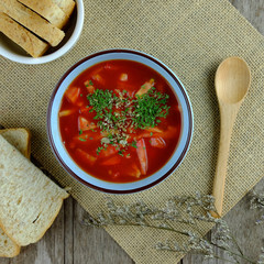 Healthy of tomato soup.