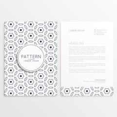 minimal elegant letterhead design with front and back sides