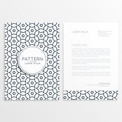 company letterhead design in simple style and pattern shape
