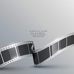 3d film strip realistic background