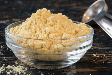 Ground mustard in an ingredient bowl