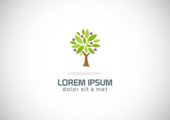 green tree nature botany logo