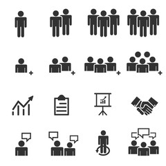 business people team icons . symbol set finance vector illustrat