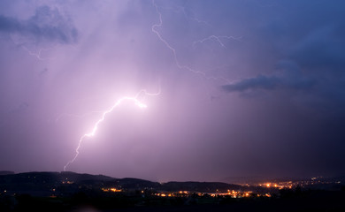 Storm, lightning, Czech republic