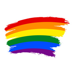 Brushstroke Rainbow Flag LGBT Movement