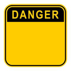Sticker Danger Safety Sign