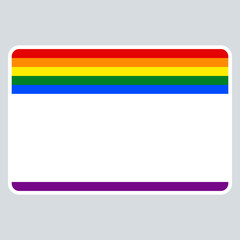 Sticker Name Tag LGBT Rainbow Flag