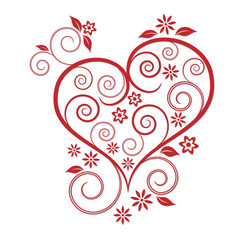 Florales Herz