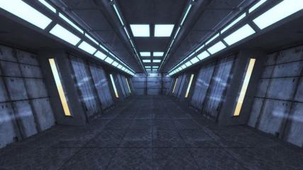 3d rendering. Futuristic interior architecture buiding