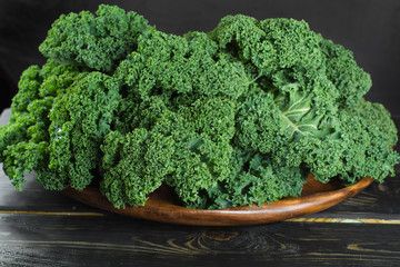 Green winter superfood - Kale green cabbage,