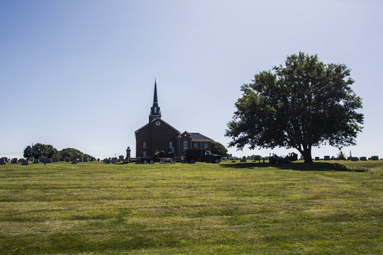 Small church in the American countryside