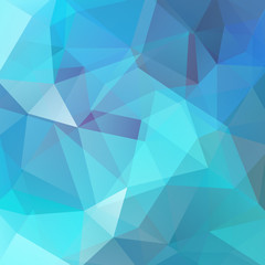 Background made of blue triangles. Square composition with geometric shapes. Eps 10.