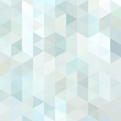 Triangle vector background. Can be used in cover design, book design, website background. Vector illustration. Pastel blue, white colors