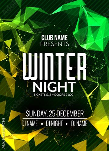 dance party dj battle poster design winter disco party music