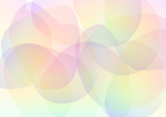 rainbow petal abstract background, floral collage wallpaper, soft curve transparent template, vector illustration