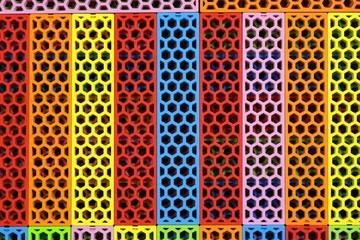 Colorful rainbow wood Background, wood honeycomb toy