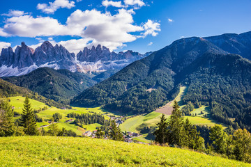 Lovely forested mountains