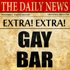 gay bar, article text in newspaper