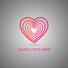 Valentine vector heart symbol