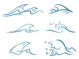simple waves vector set