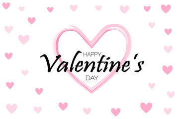 Happy Valentine's day background. Holiday white and pink style card design concept. Vector illusiration