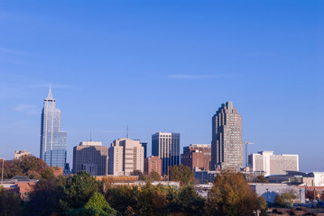 Raliegh North Carolina Downtown Skyline